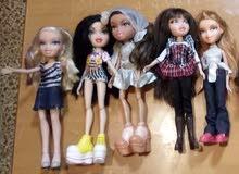مجموعة دمى اصلية ، للبيع بالجملة 9pcs Bratz girls dolls موديلان جديد وقديم orig