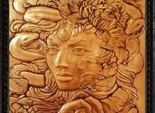 handmade copper art لوحة نحاسية شغل ايد