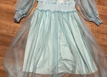 فستان  سهرة صناعة تركية درجة أولي اللون سمائي متوفر من 38 إلي 48