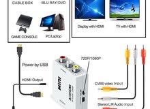 Mini RCA AV to HDMI Converter