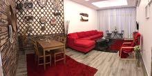 للبيع - شقة مفروشة فرش عصري مع اطلالة بحرية