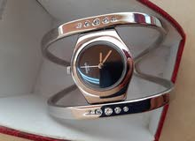 ساعة نسائية swatch swiss سويسرية