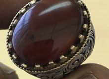 عقيق يمني أحمر زعفراني