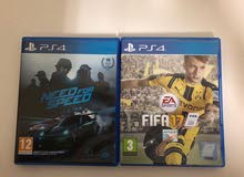 لعبة فيفا 17 و نيد فور سبيد fifa 17 & need for speed فيفا17 للبيع