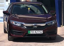Honda Civic 2018 For Rent - Maroon color