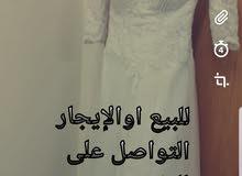 فستان عرس للببع اوالإيجار لبسة واحدة