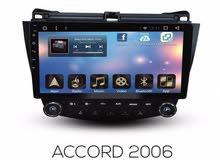 شاشة أكورد اندوريد 10.0 من سبايدر موديل 2006 بالديكور  النوع :شاشة سيارة أكورد