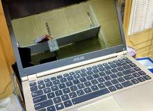 اسوس ASUS لون ذهبي i7 جيل ثالث حجم شاشة 14 نظافة الجهاز 95%