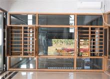 مطلوب نافذة من المنيوم احمر