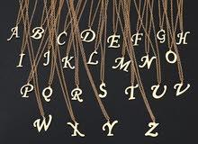 قلادة الحروف alphabet necklace