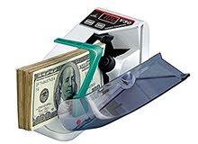 الة العد النقود تتميز بصغر حجمها وسهلة الاستعمال وتنقل للبيع جديدة