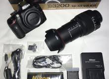 Nikon D3200 with sigma lens 18-200