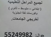 معلم لغة انجليزية لكافة المراحل التعليمية والجامعات.ت: 55249982