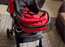 عربة طفل +كرسي سيارة