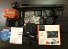 كاميرا الميرورلس الاحترافيه من سوني مع ملحقات وعدسات بسعر مغري SONY A6