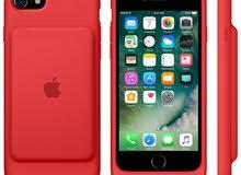 smart battery case iphone 7 red - كفر سمارت ابل شحن الاصلي