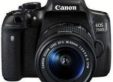 كاميرا كانون 750 دي