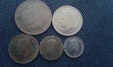 قطع نقدية اسبانية تعود ل 1980