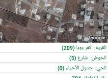 قطعة ارض في تطوير الحضري كفريوبا مساحتها 400م