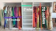 كبت ملابس خشبي بحالة جيدة للبيع_Used cabinet for sale