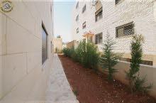 شقة ارضية مميزة للبيع في السابع 150م مع حديقة وترسات 120م لم تسكن