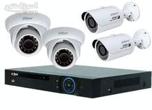 اربع كاميرات مراقبة مع جهاز التسجيل بدون تركيب