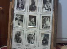 تحفة نادرة جدا لوحة تحتوي على مجموعة صور لملوك وزعماء العراق