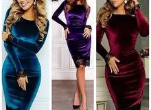فستان تركي قصير مخمل