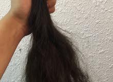 شعر متوسط الطول طبيعي 100٪