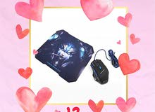 Gaming Mouse and Mousepad Combo