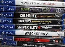سيديات بلايستيشن 4 بحالة ممتازه بسعر مغري PS4 Games