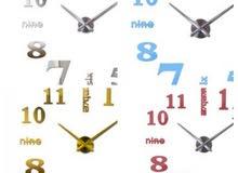 ساعات جداريه لاصقه ثلاثيه الابعاد