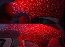 جديد اضاءة لاسقف السيارة واوض النوم لون احمر على شكل نجوم