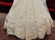 فستان عرس تركي مستخدم مره وحده فقط.