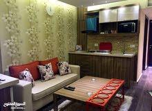 استديو راقي جدا  للايجار في الدوار السابع بقرب محطة البرج مفروش بالكامل مساحة الشقة 70 متر