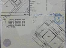 الخوض السابعة سكني تجاري  رقم الارض 3643 مفتوحه من جهتين مساحة الارض 500 متر