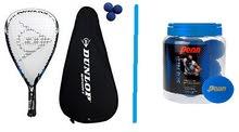 4X Squash - Racquetball Rackets (Wilson) +3 Balls (Dunlop)