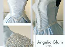 فستان خطبه ملوكي تصميم حصري من المصممه
