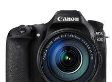 كاميرا كانون 80D جديدة مع عدستين - Canon 80D Brand new with two lenses