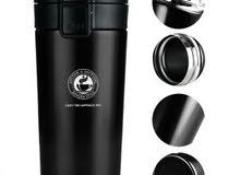 كوب قهوه حافظ للحراره من الاستنلستيل - 380 مل - اسود