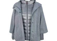 معطف نسائي 2في1 عالي الجودة لأناقة وتألق مظهرك اليومي