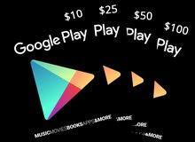 بطاقات غوغل بلاي كل الاسعار
