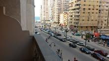 شقة مفروش للايجار شارع محمد نجيب ترى البحر بوضوح 010
