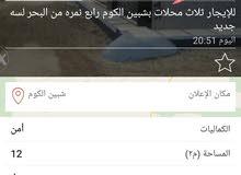 ثلاث محلات للإيجار بشبين الكوم رابع نمره من البحر شارع جانبي محلين يروا البحر