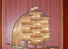 مجسم سفينة شراعية بارزه واخري داخل اطار