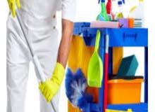 مطلوب عمال نضافة للعمل في محلات تجارية