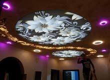 اسقف وجدران فرنسية مضيئة 3D