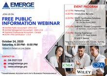 FREE Public Information Webinar on October 24, 2020