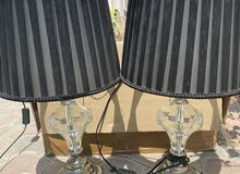 2 table light for sale black and crystal