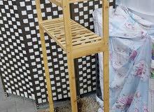 bathroom bamboo shelves